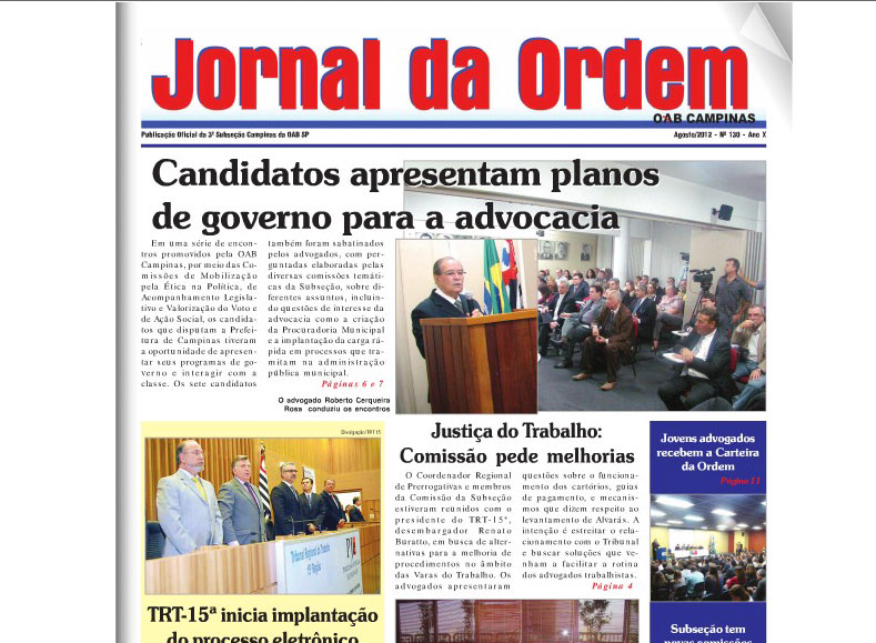 Jornal da Ordem – Agosto 2012