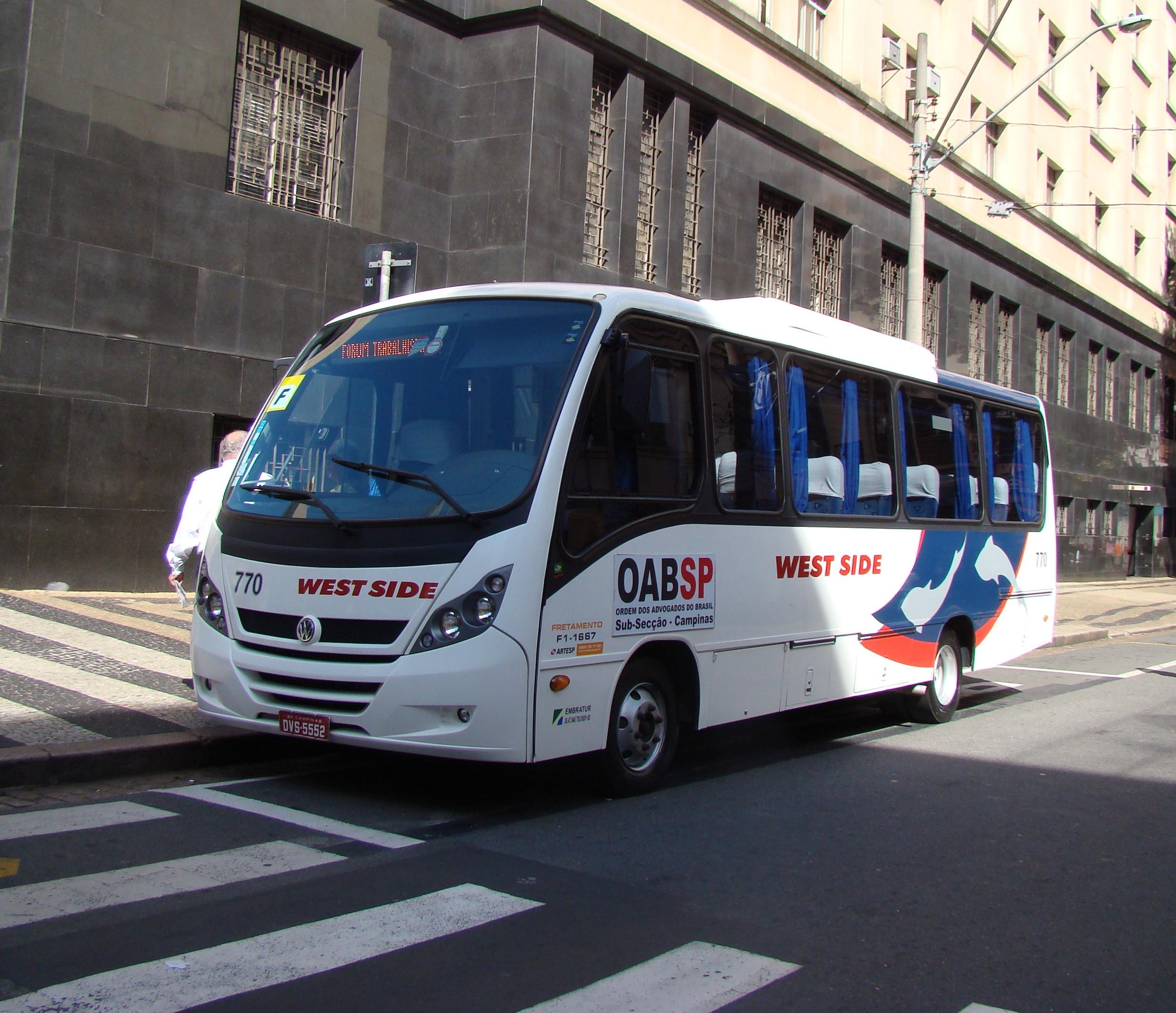 Subseção disponibiliza ônibus para a posse solene