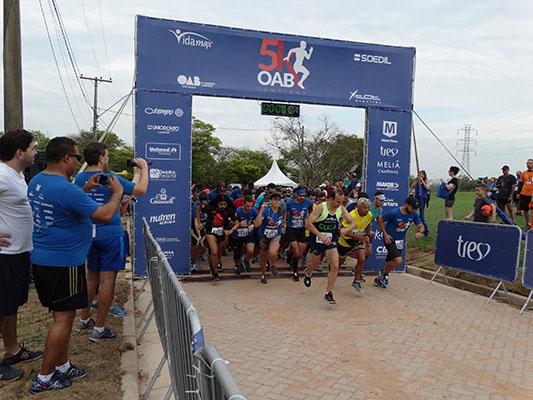 594216da03fc1 Cerca de 700 pessoas participaram da Corrida e Caminhada da OAB Campinas